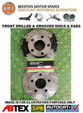 Ford Fiesta mk7 09-12 Front Drilled & Grooved Brake Discs & Pads
