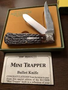 1991 Remington Limited Edition Mini Trapper Silver Bullet Engraved Bolster R1178