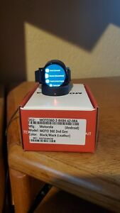 Motorola Moto 360 2nd Gen. 42mm Stainless Steel Case Black Classic Buckle -...