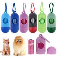 Mini Pet Dog Puppy Waste Garbage Poop Bag Dispenser Holder Case Bags+Poop Bag