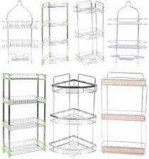 Cestas, estantes y bandejas de baño color principal plata metal