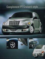 2001 Chrysler PT Cruiser ACCESSORIES / OPTIONS Brochure: RACK,GROUND EFFECTS,FOG