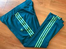 Ladies Green ADIDAS ORIGINALS TRACKSUIT BOTTOMS (UK 20) *GREAT COND*