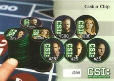 CSI Series 3 Casino Chip Card Unnumbered from Strictly Ink