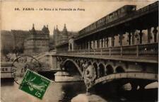CPA PARIS (16e) Le Metro a la Passerelle de Passy (563346)