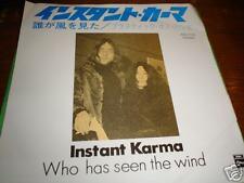 JOHN LENNON JAPAN 45 INSTANT KARMA  BLACK ODEON BEATLES