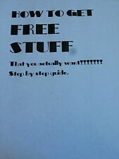 How to get free stuff( pamphlet) that you actually want and use