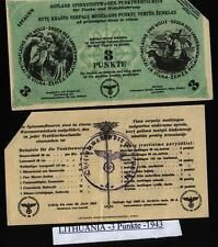 Germany Ostland Lithuania - 3 Punkt 1943/44, canceled WWII