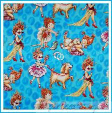 BonEful Fabric Cotton Quilt Fancy Nancy Dog Girl Princess Ballet RARE Sale SCRAP
