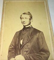 Antique Victorian American Civil War Era Handsome Man! South Hadley MA CDV Photo