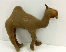 Stuffed Animal MoHair velvet dromedary CAMEL Doll Child Toy 1920s FOLK ART