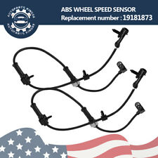 2PCS ABS Wheel Speed Sensor Front Left /Right For Chevrolet GMC Replace 19181873