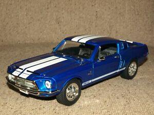 RARE BLUE 1968 Ford Mustang Shelby 1968 GT-500KR Diecast Car 1:18 Road Signature