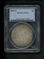1893-O US Morgan Silver Dollar $1.00 $1 PCGS AU50 About Unc. Original Surfaces