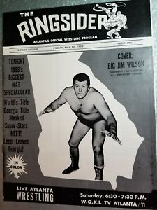 NWA GEORGIA RINGSIDER WRESTLING PROGRAM 1968 ATLANTA MR WRESTLING THESZ WALKER