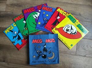 MEG AND MOG SET OF 6 BOOKS WITH CARRY BAG