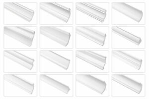 Muster Cosca Decken Eckleisten Kunststoff Styropor Stuckprofile weiß Zierleiste