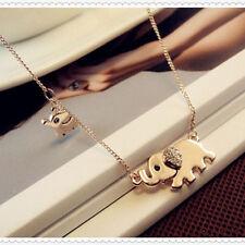 Fashion Women Elephant Pendant Chain Choker Gold Necklace Jewelry Gifts.