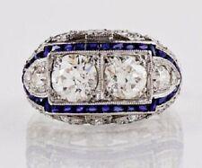 Vintage 3.20Ct Antique Art Deco Gemstone Engagement Ring In 925 Sterling Silver