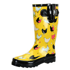 SheSole Womens Rain Boots Wide Calf Short Wellington Wellies RainBoot Shoes US 8