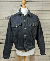 Wrangler Hero authentic western Vintage Denim Jacket blue/black SMALL VGC