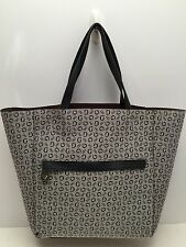 Guess Women's Large Travel Tote Black Multi Shoulder Shopper Bag
