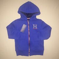 Boys size 5 5t Tommy Hilfiger Zip up Hoodie Royal Blue Nwt