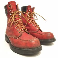 VINTAGE RED WING MOCCASIN TOE SUPER SOLE BOOTS SIZE 6D