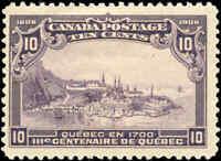 1908 Mint H Canada F+ Scott #101 10c Quebec Tercentenary Issue Stamp