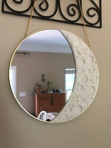 Moon Mirror; Handmade 12 Inches