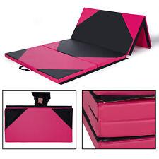 "4'x10'x2"" Thick Folding Panel Gymnastics Tumbling Mat Gym Fitness Exercise"