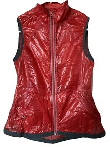 Stoic Cycling Rain Vest Women XS Red Lightweight