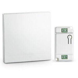 wireless Lichtschalter Funkschalter Wasserdicht Wandschalter 100M mit Empfänger