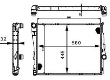 Radiator-Auto Trans Behr Hella Service 376716271