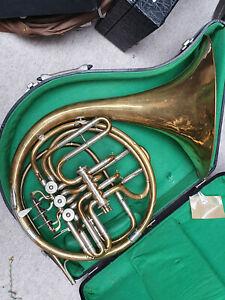 Original Carl Lehmann Walzenhorn Patent Doppelhorn Waldhorn double French horn