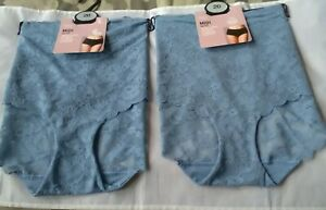 2 Marks and Spencer Floral Lace No VPL Midi Underwear size 20 New