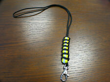 Firefighter Bunker Turnout Gear Themed Paracord 550 Lanyard - Unique Handmade