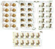 RUSSIA 2005 Sc# 6883-86 Full Sheets, Archaeological Treasures of Sarmatia, MNH