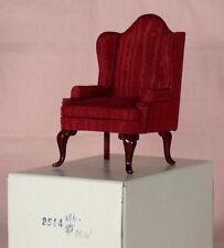 412 Vintage Dollhouse Miniature FANTASTIC MERCHANDISE Armchair 2514 Red