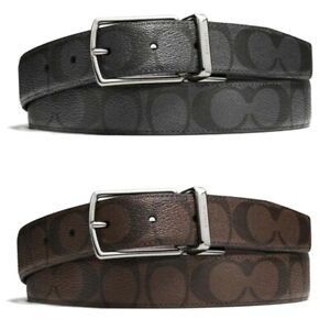 Coach Men's Modern Harness Cut-To-Size Reversible Belt in Signature Canvas