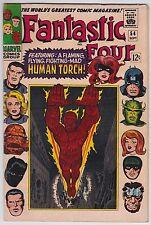 Fantastic Four #54 Vg+ 4.5 Black Panther Inhumans Stan Lee Jack Kirby Art!