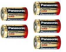5 PILE BATTERIE CR2 PANASONIC 3V LITIO CR2 DLCR2 KCR2 CR17355 NO DURACELL BLISTE