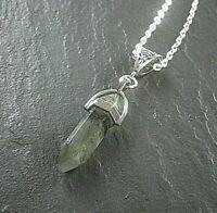 Labradorite Crystal Stone Point Pendant Silver Necklace Self-Discovery Stone UK
