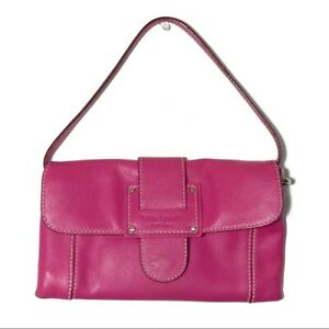 Kate Spade Small Hot Pink Leather Shoulder Bag Good Condition