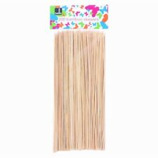 New Bamboo Skewers 200 Sticks For Barbecue BBQ Kebab Fruit Wooden Sticks 10""