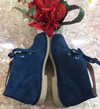 New Lucky Brand Women's Lagoon Blue Suede Chukkah Bootie Shoes Ret $89