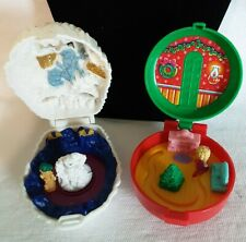 1993 Mc Donald's Happy Meal 2pc Lot Totally Toy Holiday Mighty Max Polly Pocket