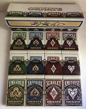 Ornate Playing Card Collection 12 Decks Sapphire Emerald Scarlet Amethyst w/ Box