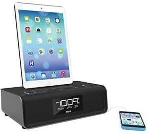 iHome iPhone/iPad Lightning Docking Station Radio Digital Alarm Clock Speaker