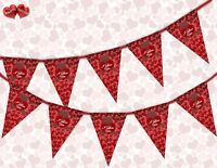 Valentine's Bears Valentines Day Themed Bunting Banner 15 flags by PARTY DECOR